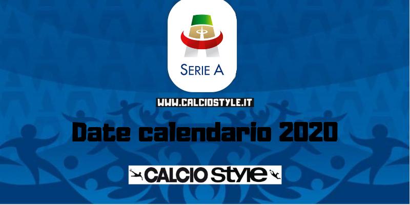 Calendario Serie A 201920 Sorteggio.Calendario Serie A 2019 2020 Date Pazzesche Calcio Style